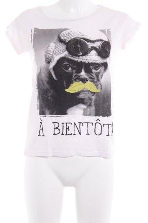 Bershka Print-Shirt hellrosa Motivdruck Casual-Look