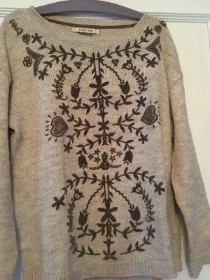 Bershka Pullover beige braun Gr. M