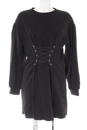 Bershka Sweater Dress black casual look