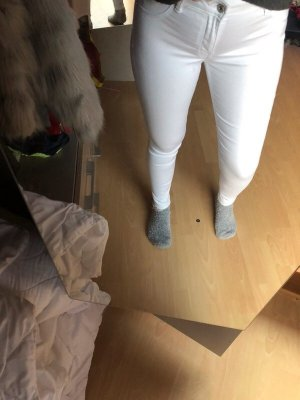 Bershka Jeans skinny bianco