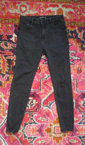 Bershka Push-Up Jeans dunkelgrau used Gr. 40 wie neu Skinny Jeans