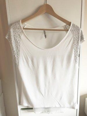 Bershka rückenfreies Top / Shirt in weiß