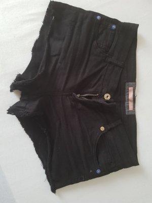 Bershka, schwarz kurz Shorts,M Große