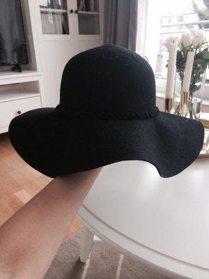 Bershka Chapeau à larges bords noir