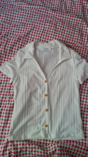 Bershka Cropped shirt wolwit