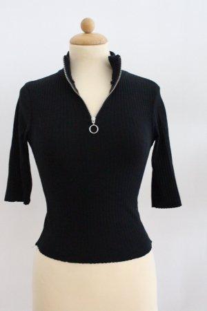 Bershka Shirt Gr.XS schwarz