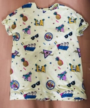Bershka Shirt Longshirt Comic Style M