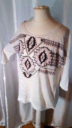 Bershka Shirt Pulli Etno L 40 neuwertig