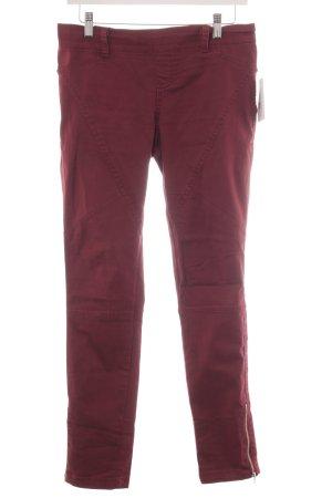 Bershka Skinny Jeans bordeauxrot Casual-Look
