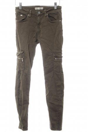 Bershka Skinny Jeans dunkelgrün Casual-Look