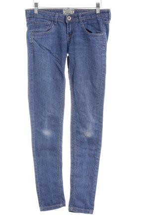 Bershka Skinny Jeans graublau-blassblau Casual-Look