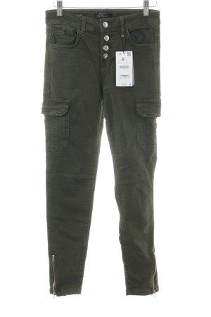 Bershka Skinny Jeans grüngrau Casual-Look