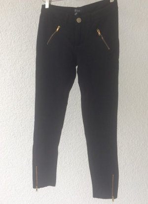 Bershka Pantalón tipo suéter negro-marrón arena