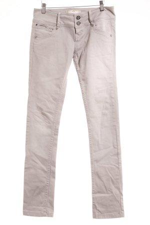 Bershka Straight-Leg Jeans hellgrau-grau Casual-Look