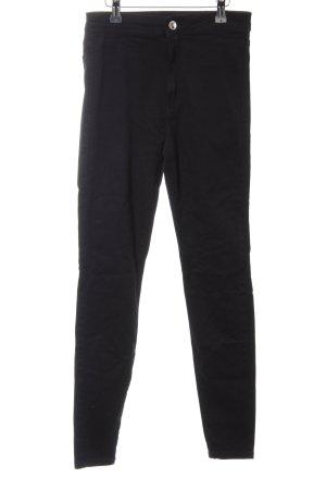 Bershka Stretch Jeans schwarz Casual-Look