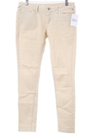 Bershka Stretch Jeans beige schlichter Stil