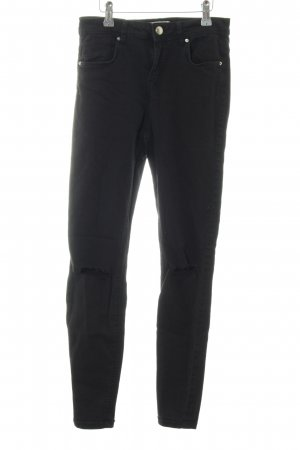 Bershka Stretch Jeans schwarz Casual-Look
