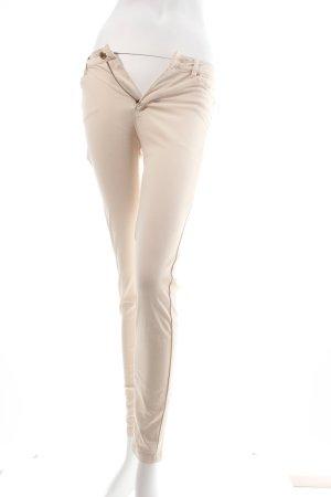 Bershka Stretchhose hellbeige schlichter Stil