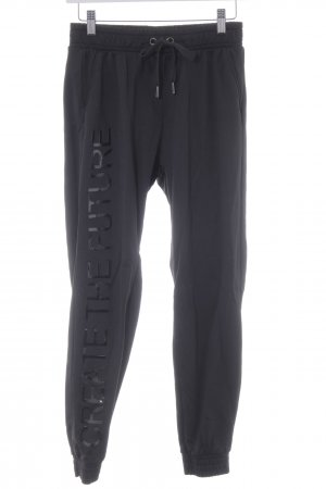 Bershka Pantalón deportivo negro estilo deportivo