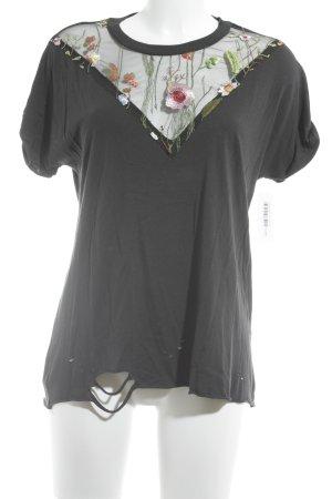 Bershka T-Shirt Blumenmuster Casual-Look