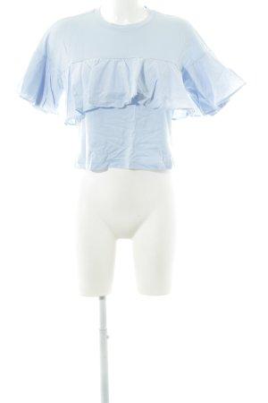 Bershka T-Shirt himmelblau Casual-Look