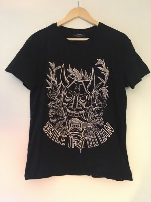 BERSHKA - T-Shirt schwarz