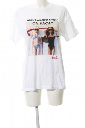 Bershka T-Shirt weiß Motivdruck Casual-Look
