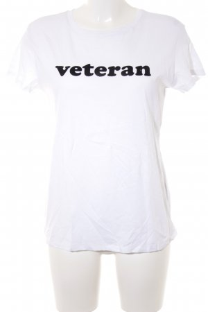 Bershka T-Shirt weiß-schwarz Casual-Look