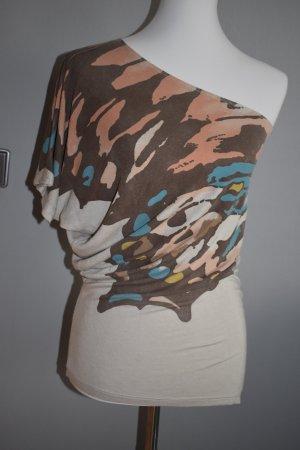 Bershka Haut avec une épaule dénudée multicolore