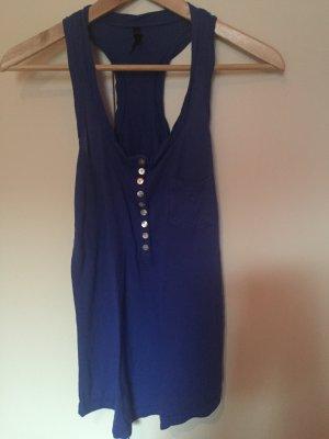 Bershka Top met spaghettibandjes room-blauw