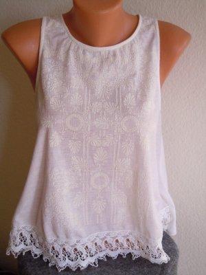 Bershka Blouse Top white