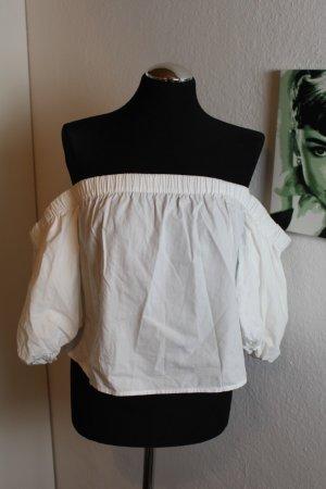 Bershka Off-The-Shoulder Top white