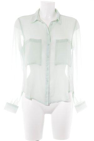 Bershka Transparenz-Bluse mint Webmuster Casual-Look