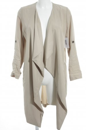 Bershka Trench Coat cream nude look