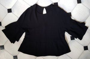 Bershka Blouse en crash noir