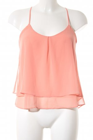 Bershka Volanttop apricot Casual-Look