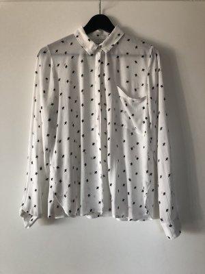 Bershka - Weiße Bluse mit Motiv