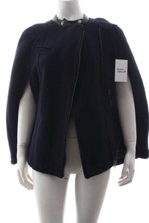 Bershka Wolljacke blau-schwarz Street-Fashion-Look