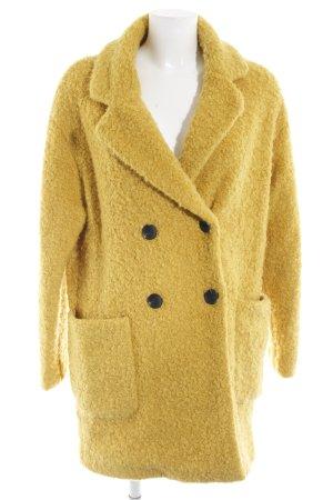 Bershka Manteau en laine jaune foncé style extravagant