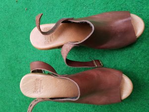 Bertie Sandales cognac-brun cuir