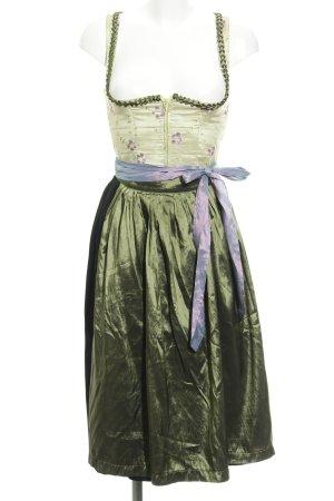 Berwin & Wolff Dirndl nero-verde chiaro stile country