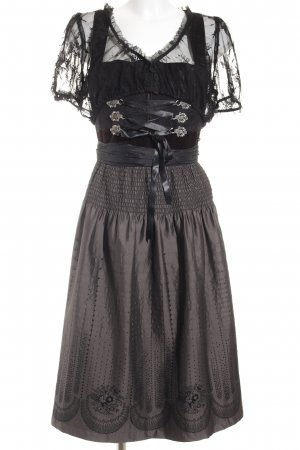 Berwin & Wolff Dirndl nero-marrone-nero stile country