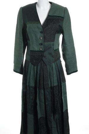 Berwin & Wolff Kostüm grüngrau-dunkelgrün extravaganter Stil