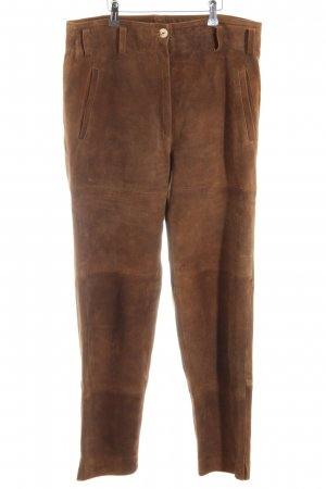 Berwin & Wolff Leather Trousers brown extravagant style