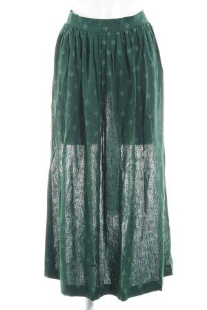 Berwin & Wolff Delantal folclórico verde estampado floral estilo clásico