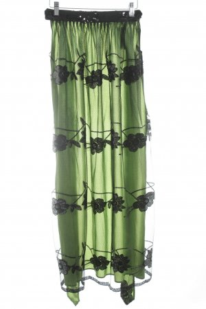 Berwin & Wolff Trachtenschürze grasgrün-schwarz extravaganter Stil