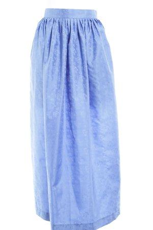 Berwin & Wolff Delantal folclórico azul celeste estampado floral