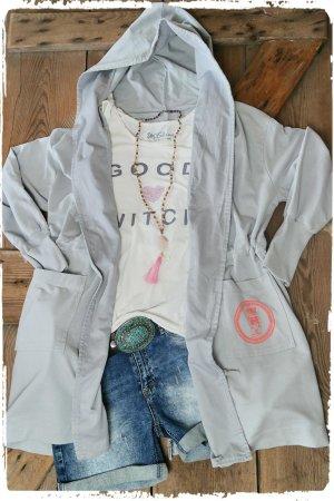 Veste gris clair coton