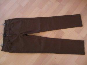 """Beschichtete Chino """"coated"""" in nougat braun, Größe 36 K, GARDEUR"""