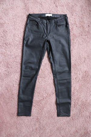 Mango Drainpipe Trousers black